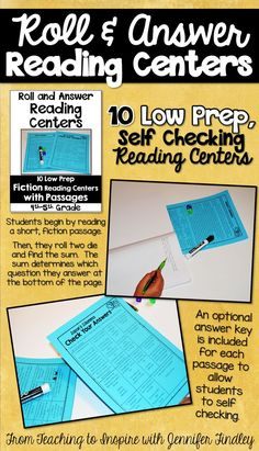 5th Grade Reading Centers! Low prep and includes reading text. Engaging and rigorous!