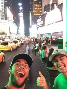 Bubb Wallace and Chase Elliott in NYC