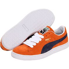 Team Orange/Mood Indigo suede kicks