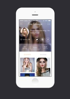 New project - fashion platform profile screen by Ben Dunn