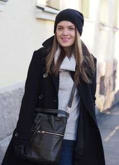 Coat, Burberry / knit, Esprit / jeans, Frame Denim / bag, Marks & Spencer / hat, COS // Xenia's day