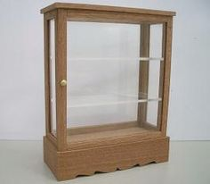 how to: curio cabinet...wonder if I could use an old Tic Tac container to make this ?