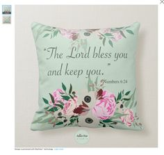 Pretty floral bouquet with Biblical quote/scripture. This design is adds a charm to any home. This design can be applied to more products in my Autumn River Studio on Zazzle. Biblical Verses, Scripture Verses, Floral Cushions, Flower Pillow, Floral Bouquets, Christian Quotes, Throw Pillows, Autumn, River