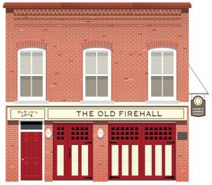 The Old Firehall designed by Christopher Hebert. Connect with them on Dribbble; Design Ios, Flat Design Icons, Dashboard Design, Vector Design, Building Illustration, House Illustration, Architecture Illustrations, Old House Design, Fire Hall