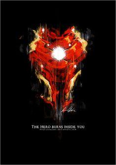 Iron Man 3 fan art - The hero burns inside you by ~Sayael on deviantART Marvel Comic Universe, Marvel Art, Marvel Cinematic Universe, Marvel Avengers, Marvel Wallpapers, Avengers Wallpaper, Reactor Arc, Iron Man Quotes, Iron Man Art