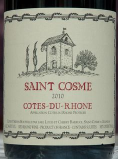 Chateau de Saint Cosme is currently enjoying waves of praise from nearly every critic for their top-shelf Gigondas.  However, you don't need to buy up to the top to enjoy this houses style.  Also well worth the hunt is their entry level Gigondas and Northern Rhone St. Joseph.    Read more: http://www.snooth.com/list/my-top-2010-southern-rhone-wines/4529/#ixzz27etdDvUy