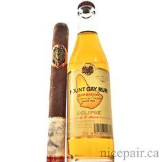 The enormous #Padilla #Cava 8x60 #cigar and a beer-bottle sized #MountGay #rum. #BossModeEnabled - nicepair.ca