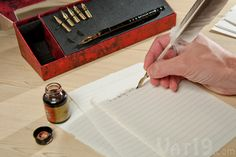 feather quill and ink