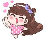Boobib Lovely Daily (... | 光頭賣 - 最大的LINE貼圖代購網 | 全館通通降五元 VIP儲值300送40 Baby Girl Earrings, Cute Couple Cartoon, Kawaii Drawings, Love Pictures, Girl Humor, Cute Stickers, Cute Couples, Princess Peach, Disney Characters