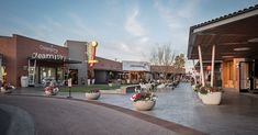 Uptown Plaza – Nelsen Partners Architects Retail Architecture, Steel Canopy, Red Bricks, Signage, Light Fixtures, Architects, Street View, Mid Century, Table Decorations