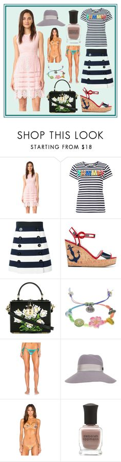 """Word Fashion 2k17"" by cate-jennifer ❤ liked on Polyvore featuring cupcakes and cashmere, Yazbukey, Dolce&Gabbana, Venessa Arizaga, My Own Summer, Maison Michel and Deborah Lippmann"