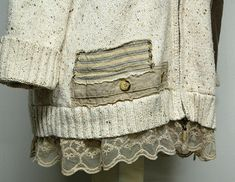 Mori Girl Sweater Shabby Chic Cardigan Boho Sweater Plus
