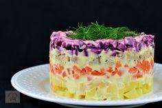 Romanian Food, Arabic Food, Food Presentation, Vanilla Cake, Salad Recipes, Cheesecake, Food And Drink, Tasty, Sweets
