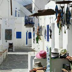 street in Folegandros island