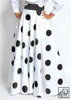 Tawni Haynes Floor Length High Waist Swing Skirt