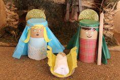 100 Ideas nuevas de Pesebres reciclados y artesanales para Navidad 2017 Christmas Crafts For Kids, Christmas Projects, Christmas Decorations, Christmas Ornaments, Arts And Crafts Projects, Fun Crafts, Toilet Roll Craft, Activities For Girls, Sunday School Crafts