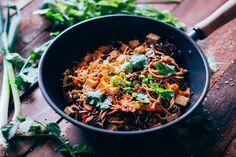 Fideos al wok con ve