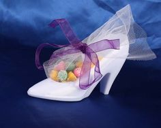 cinderella bridal shower | White Acrylic Cinderella Slipper Favor Holders - 12pcs - Sweet 16 and ...