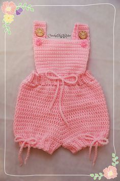 Crochet spring/summer romper outfit