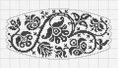 Монохромна вишиванка з пташками - 1