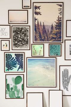 Love this gallery wall full of art