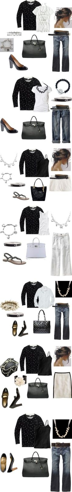 """Scattered Dot Cardigan"" by cocodaisy on Polyvore"