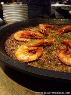 http://www.pinterest.com/cballesta1442/cocina/ Arroz seco de sepia, chipirones y gambas