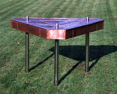 Copper table by Ingvi Metalcraft.