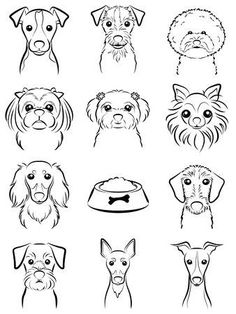 Illustration of Dog / Line drawing vector art, clipart and stock vectors. Image art Dog / Line drawing Dog Line Drawing, Dog Drawing Simple, Drawing Ideas, Tattoo Chat, Dogs Tumblr, Animal Drawings, Art Drawings, Drawings Of Dogs, Drawing Faces