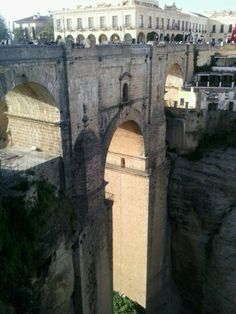 See 912 photos from 7564 visitors about scenic views, canyon, and city in spain. Ronda Malaga, Brooklyn Bridge, Spain, City, World, Places, Travel, Viajes, Sevilla Spain