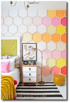 Honeycomb ombre wall!