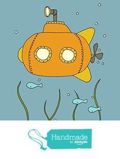 Brave Little Submarine - Under the Sea Nursery Art Print from Sweet Melody Designs https://www.amazon.com/dp/B01BLR87MS/ref=hnd_sw_r_pi_dp_E5Yczb54V371N #handmadeatamazon