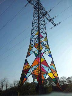 Art installment by Ali Hwang, Hae-Ryan Jeong and Chung-Ki Park. Hattingen, Germany.  http://www.cubebreaker.com/stained-glass-lighthouse/