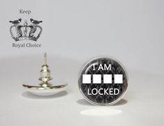 I am Sherlocked pair of earrings, Sherlock Holmes stud earrings, Gift…