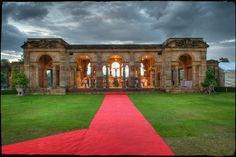 The red carpet awaits. Hever Castle in Kent is the wedding venue.
