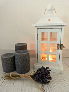 #decor #vintage #lavander #candle #lacecandle #lantern #light