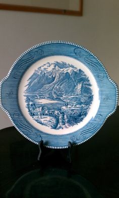 "Currier & Ives  ""The Rocky Mountains"" by Royal Made in U.S.A."
