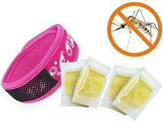 Anyprize Mosquito Repellent Bracelet Band with 4 Repellent Refills Pink One Size Fits All