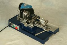 """Cowells 90CW Clock and Watchmakers Lathe. Accurate to within 0.005mm (0.0002""""), this compact clock, watch and instrument makers lathe accepts 8mm horological collets in both headstock and tailstock spindles. See http://www.cowells.com/ for details"""