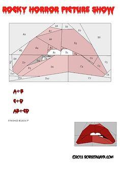 Rocky horror paper piecing pattern