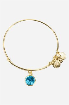 Alex and Ani Aquamarine Birthstone Expandable Wire Bangle available at #Nordstrom