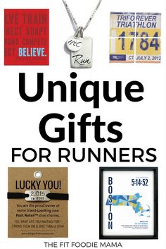 Unique Gifts for Runners for the Holidays, birthdays or any time of year. Believe Journal, Gone For A Run Coasters, Run Molly Run Jewelry, Momentum Foot Note, JHill Designs Marathoner Map.