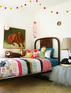 i like the pom pom's and quilt.
