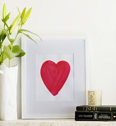 "The ""Big Love"" art print is a perfectly bright, bold & modern accent for a girls room Available at www.offyougopaperco.com"