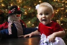 NEDC baby Callan looks forward to her first Christmas.