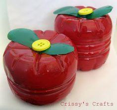 PLANETA ATIVIDADES: Lembrança para o dia das mães - Porta-jóias maçã feito com garrafa pet