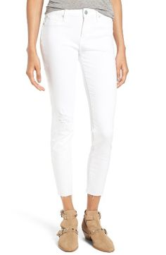 Free shipping and returns on Articles of Society Carly Skinny Crop Jeans (Whiteout) at Nordstrom.com. Frayed, raw-cut hems give an easygoing feel to stretchy skinny jeans cast in a bright white hue and cropped to an ankle-baring length.