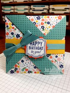 The Paper Pixie: Pinwheel Fancy Fold Card with Video!
