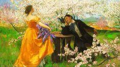The Awakening of Spring - István Csók (Hungarian Impressionism Mexican Artists, Spanish Artists, French Artists, Canadian Artists, Australian Artists, Elizabeth Bathory, Art Deco Artists, Pintura Exterior, Impressionist Artists