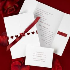Hearts and Ribbons Wedding Invitation by Invitation Duck Heart Wedding Invitations, Birthday Invitations, I Love Heart, Mocha, Wedding Inspiration, Wedding Ideas, Our Wedding, Valentines Day, Gift Wrapping